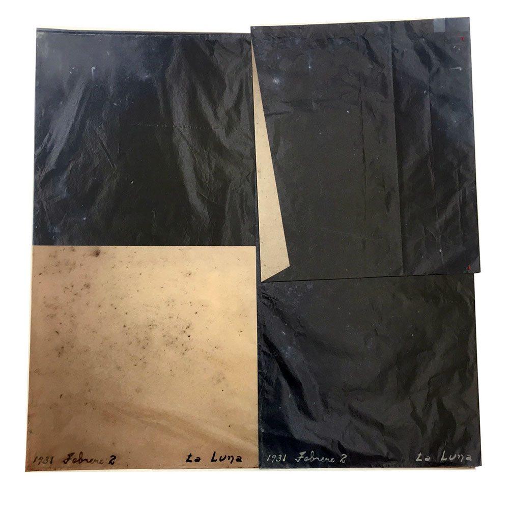 Luis González Palma - La Luna 3, 2016, digital printing on onion paper, collage, 20 by 20 inches