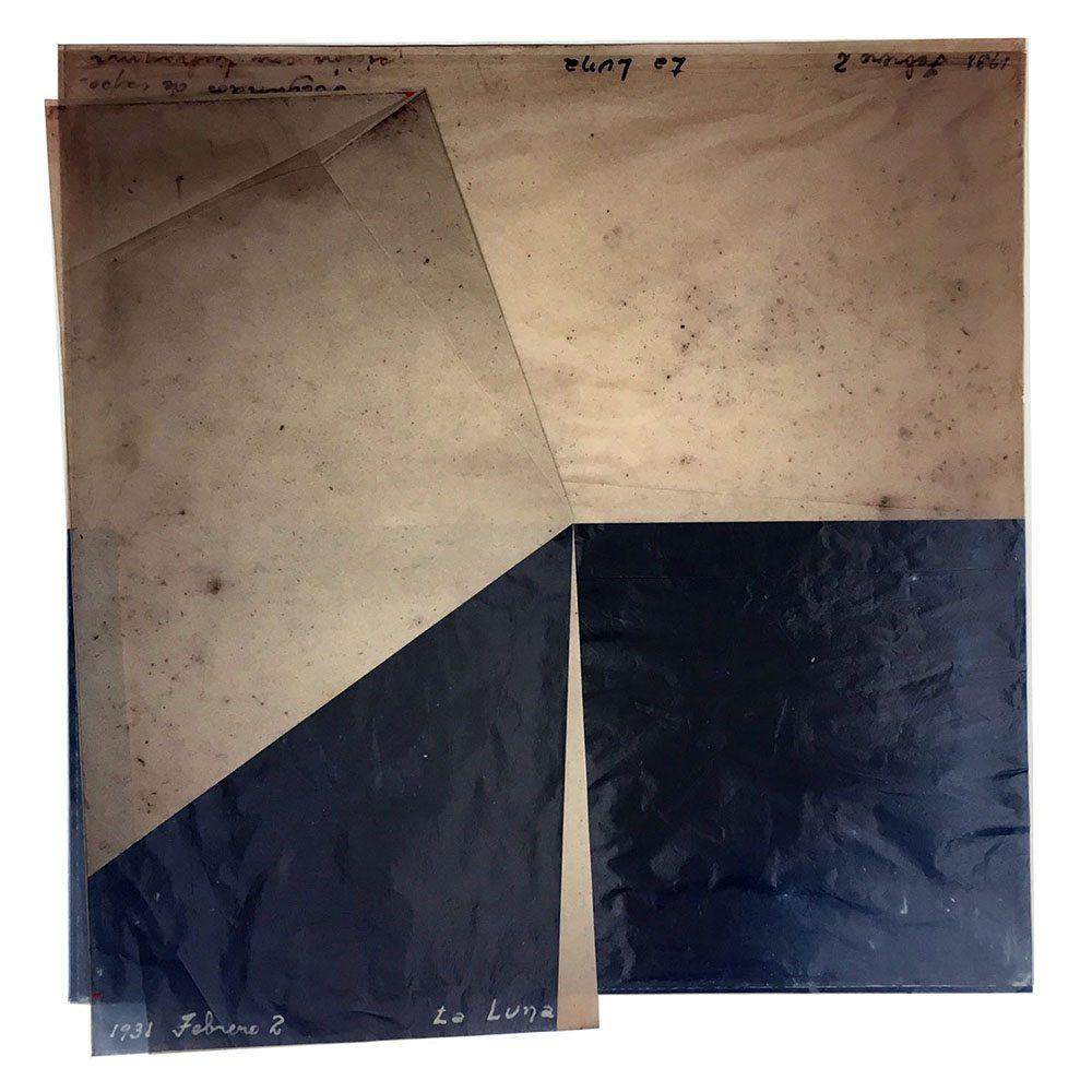 Luis González Palma - La Luna 4, 2016, digital printing on onion paper, collage, 20.75 by 20 inches