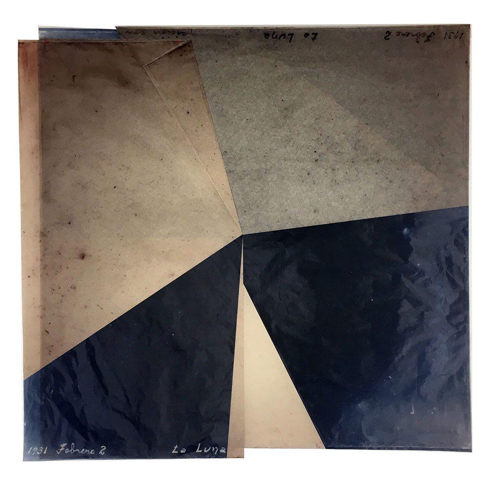 Luis González Palma - La Luna 5, 2016, digital printing on onion paper, collage, 20.25 by 20.5 inches