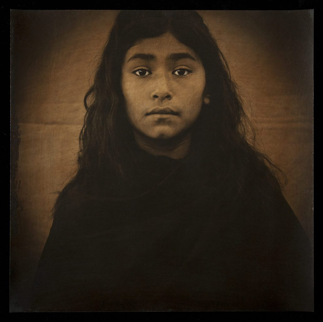 Luis González Palma - Esperanza, 2011, hand-painted photograph on Hahnemuhle watercolor paper, 20 by 20 inches, edition of 7