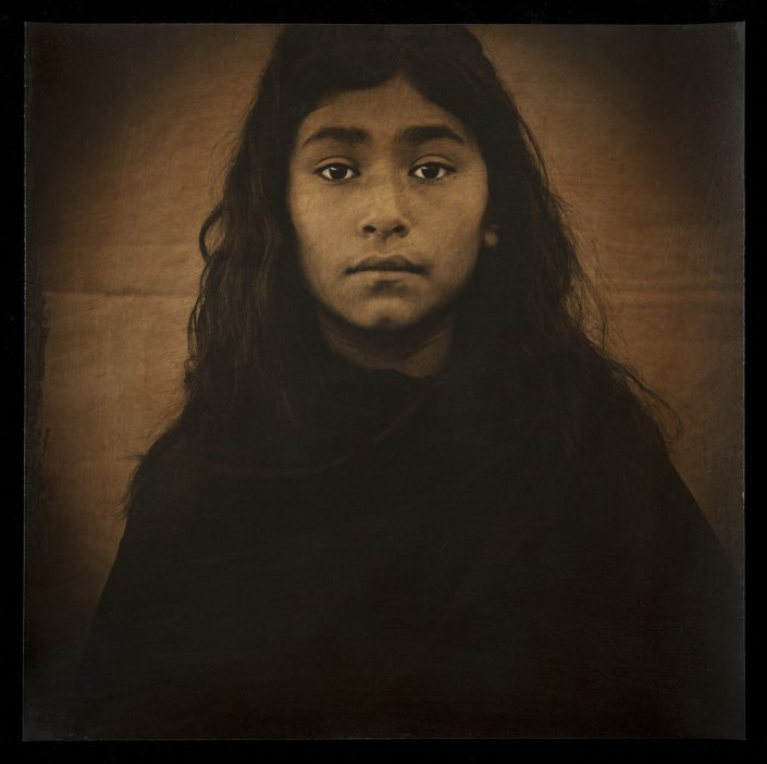 Luis González Palma - Esperanza, hand-painted photograph on Hahnemuhle watercolor paper, 2011, 20 by 20 inches, edition of 7