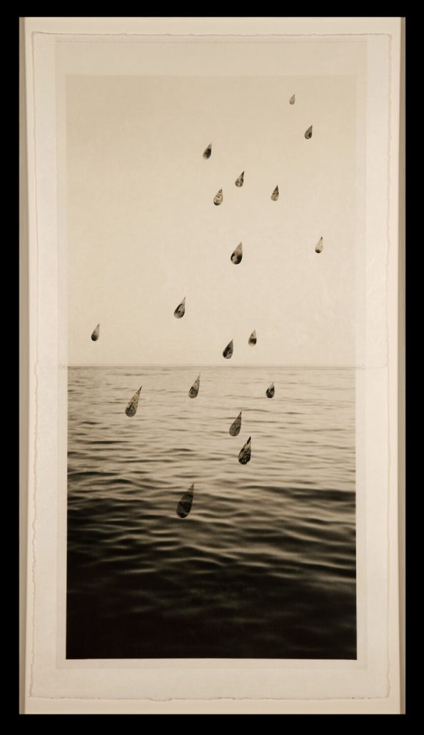 Marie Navarre - Dark reply, 2010, film, silk thread, monofilament, paper, 37 by 21 inches framed
