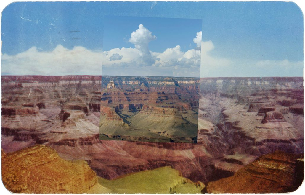 Mark Klett with Byron Wolfe - Postcard Canyon View, 2010, pigment inkjet print, 3.5 by 5.5 inches