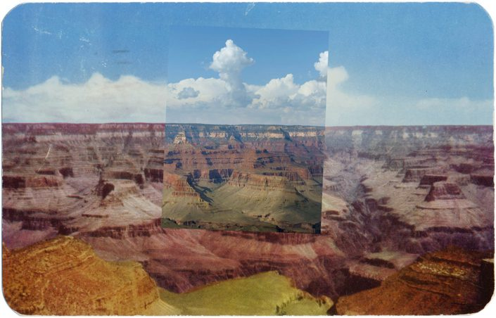 (Mark Klett with Byron Wolfe) Postcard Canyon View