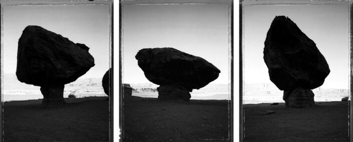 Mark Klett - Balancing Rocks: Road to Lee's Ferry, Marble Canyon, 5/10/86, 1986, gelatin silver print, 20 by 16 inches each panel