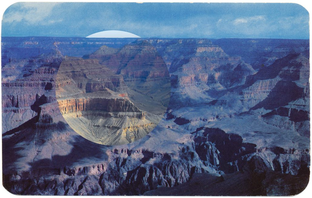 Mark Klett with Byron Wolfe - Blue Hopi Point, 2010, pigment inkjet print, 3.5 by 5.5 inches