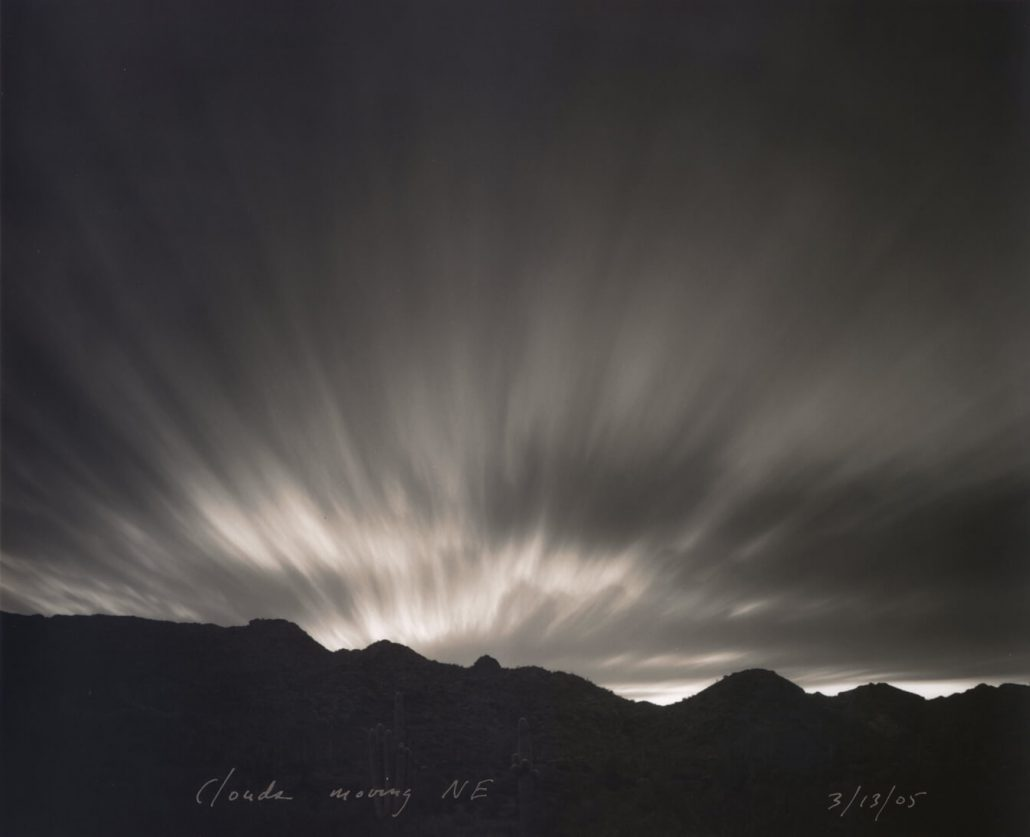 Mark Klett - Clouds Moving NE, 2005, toned gelatin silver print, 7.5 by 9 inches