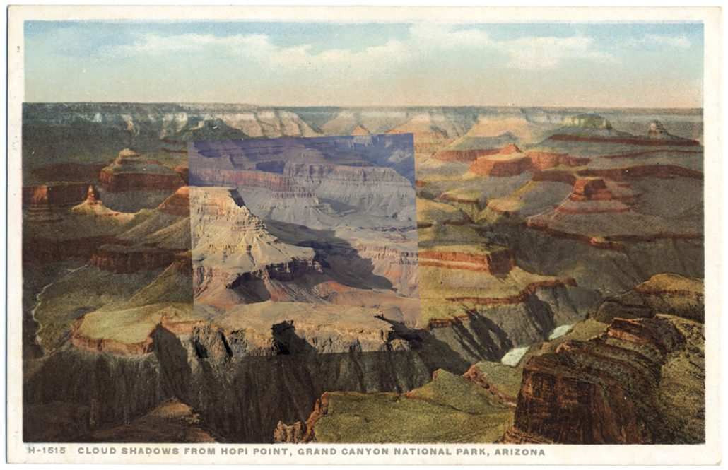 Mark Klett with Byron Wolfe - Cloud Shadows Hopi, 2010, pigment inkjet print, 3.5 by 5.5 inches