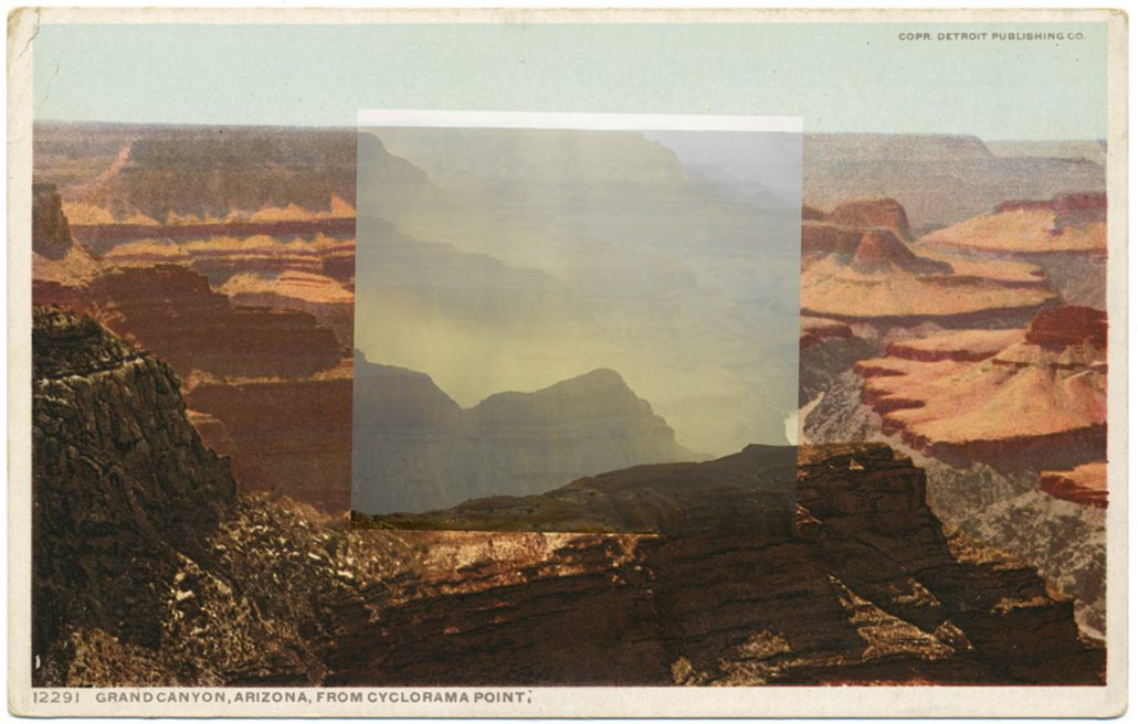 Mark Klett with Byron Wolfe - Cyclorama Point, by 2010, pigment inkjet print, 3.5 by 5.5 inches
