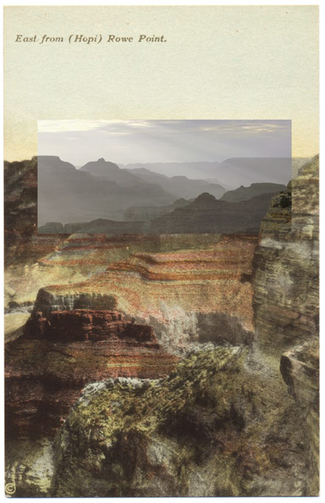 Mark Klett with Byron Wolfe - East from Hopi Point 1, 2010, pigment inkjet print, 5.5 by 3.5 inches
