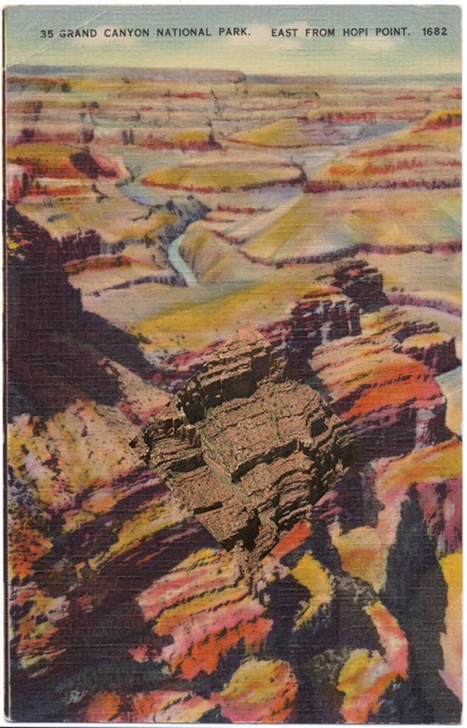 Mark Klett with Byron Wolfe - West from Hopi Point, 2010, pigment inkjet print, 5.5 by 3.5 inches