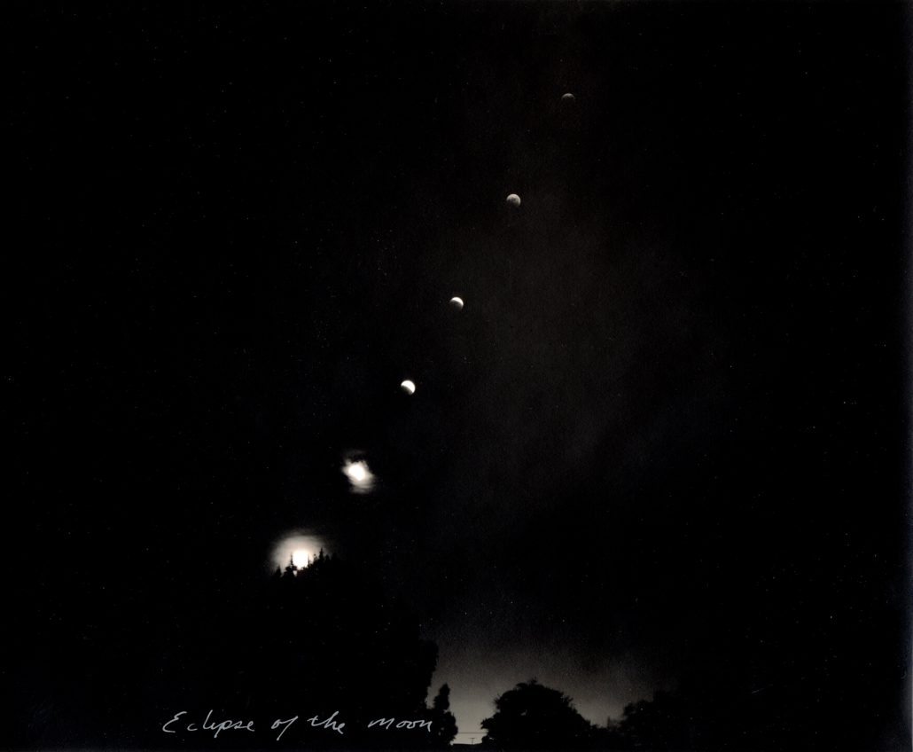 Mark Klett - Eclipse of Moon, 2006, toned gelatin silver print, 7.5 by 9 inches