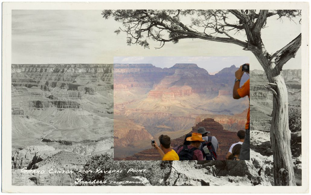 Mark Klett with Byron Wolfe - Grand Canyon from Yavapai Point, 2010, pigment inkjet print, 3.5 by 5.5 inches