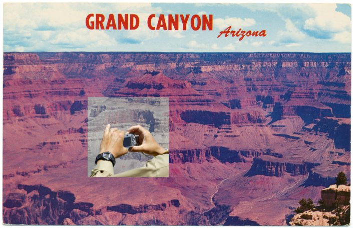 Mark Klett with Byron Wolfe - Grand Canyon AZ, 2010, pigment inkjet print, 3.5 by 5.5 inches