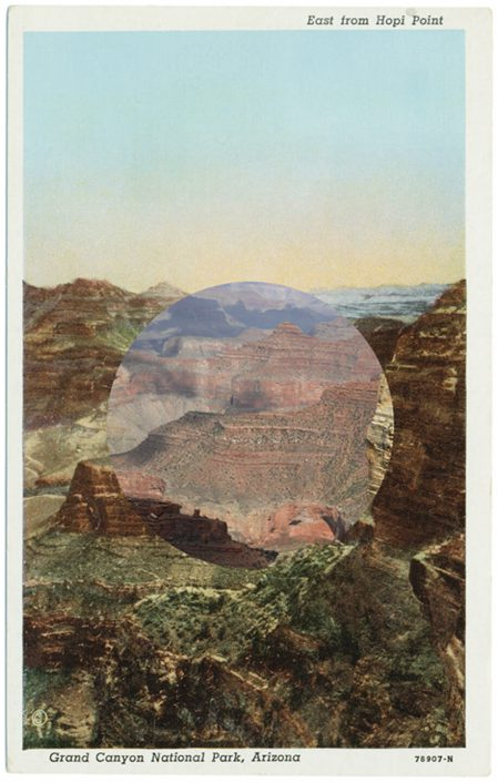 Mark Klett with Byron Wolfe - East from Hopi Point 2, 2010, pigment inkjet print, 5.5 by 3.5 inches