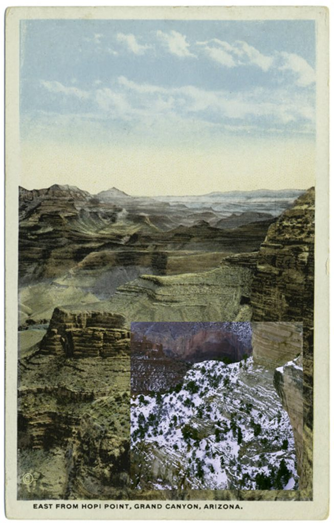 Mark Klett with Byron Wolfe - East from Hopi Point 3, 2010, pigment inkjet print, 5.5 by 3.5 inches