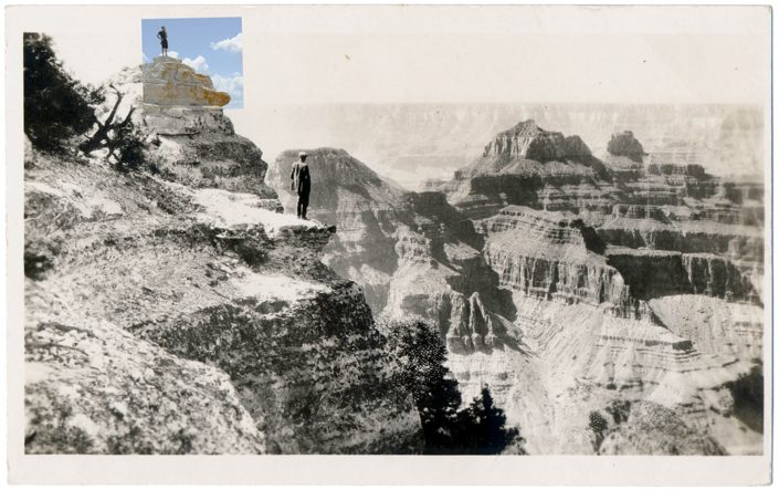 Mark Klett with Byron Wolfe - North Rim, by 2010, pigment inkjet print, 3.5 by 5.5 inches by
