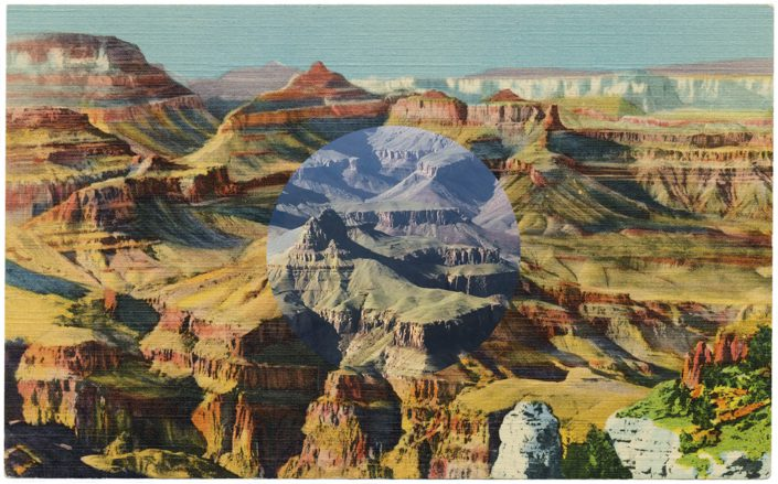 Mark Klett with Byron Wolfe - Near Moran Point, Grand Canyon, Arizona, 2012, inkjet print, 3.5 by 5.5 inches