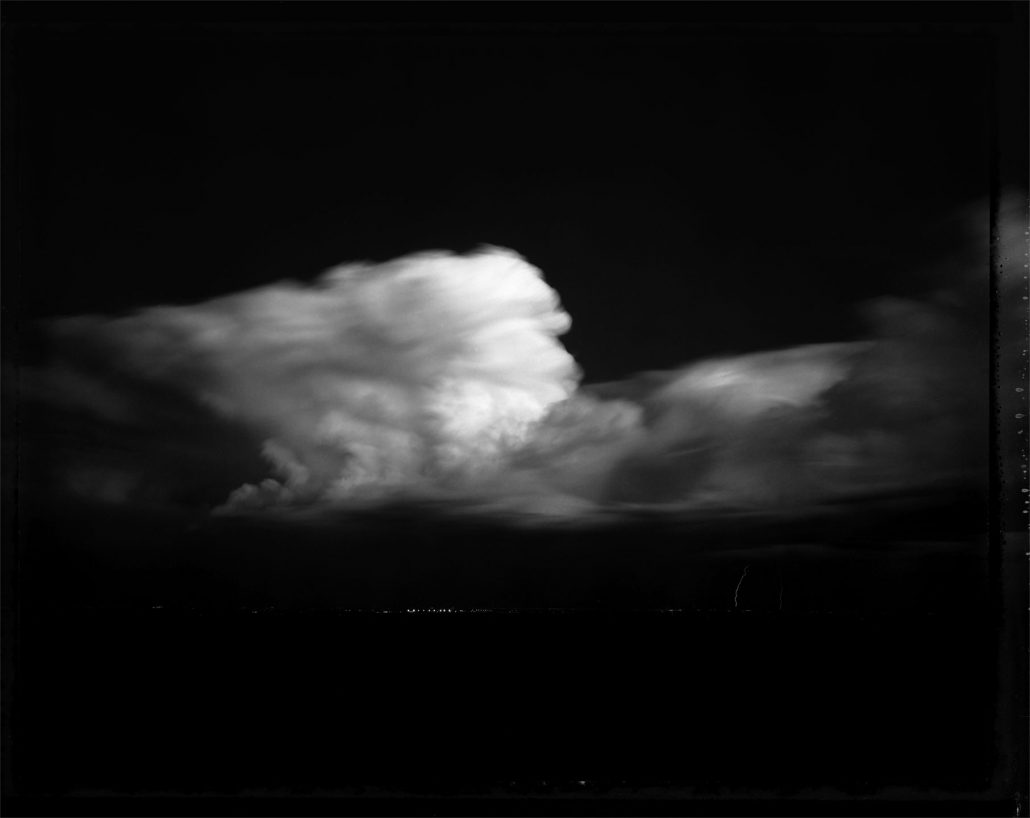Mark Klett - Night Storm, Glendale, 10/93, 1993, pigment inkjet print, 30 by 40 inches