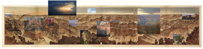 Mark Klett with Byron Wolfe - Panorama from Point Sublime after William Holmes (1882-2007), 2007, pigment inkjet print, 24 by 93 inches