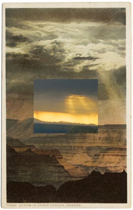 Mark Klett with Byron Wolfe - Point Sublime, 2010, pigment inkjet print, 5.5 by 3.5 inches