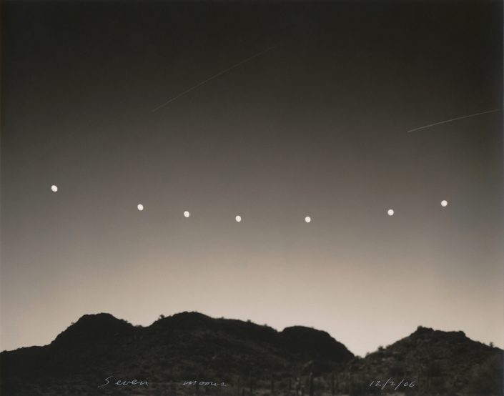 Mark Klett - Seven Moons, 2006, toned gelatin silver print, 7.5 by 9 inches