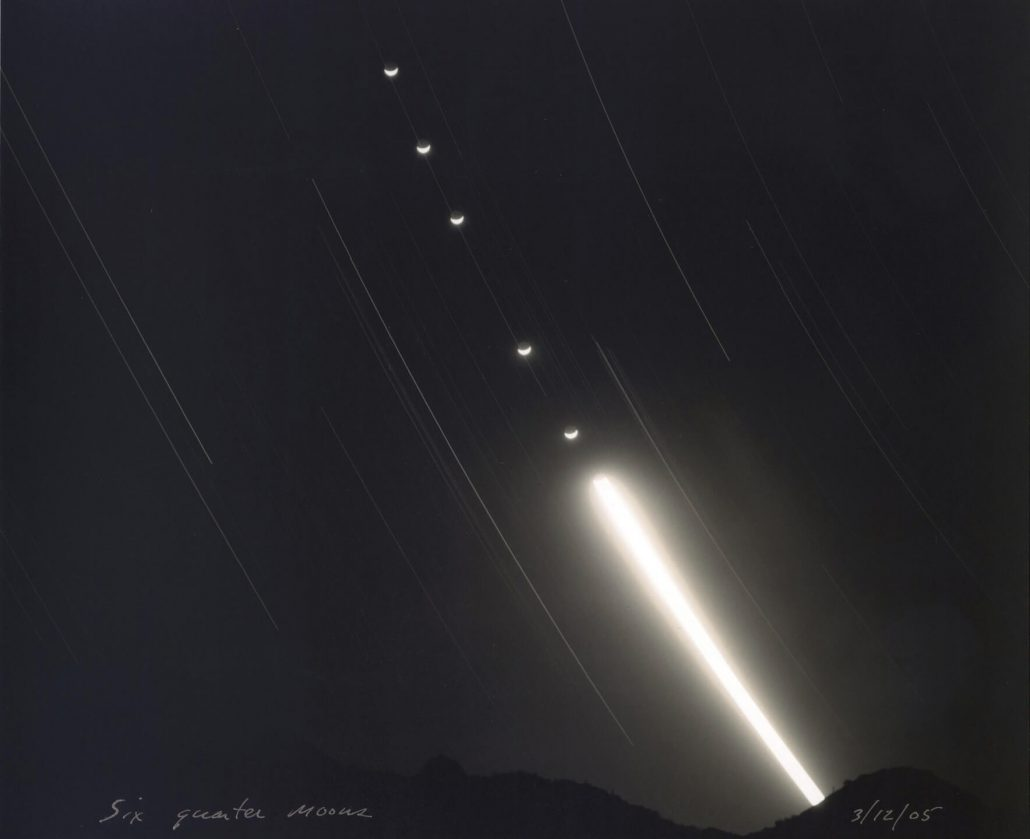 Mark Klett - Six Quarter Moons, 2006, toned gelatin silver print, 7.5 by 9 inches