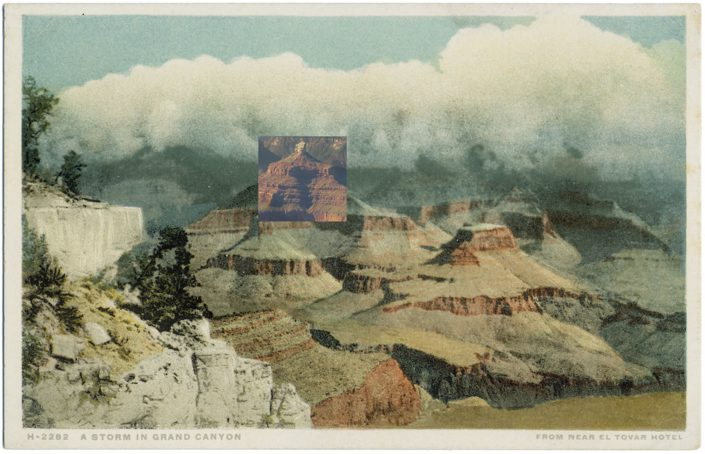 Mark Klett with Byron Wolfe - Storm in Grand Canyon, 2010, pigment inkjet print, 3.5 by 5.5 inches