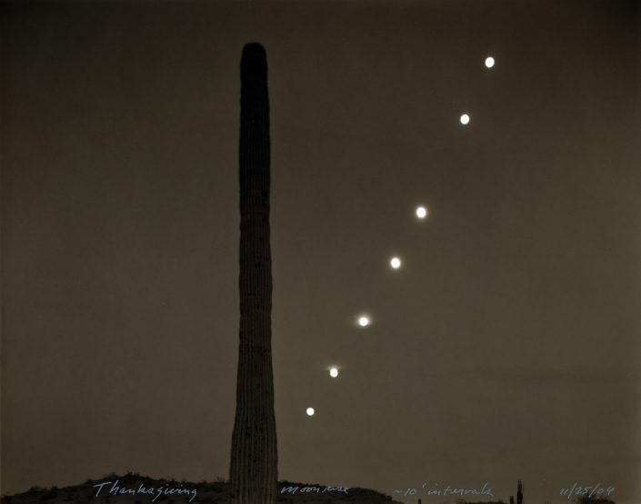 Mark Klett - Thanksgiving Moonrise, 11/25/04, 2004, toned gelatin silver print, 7.5 by 9 inches
