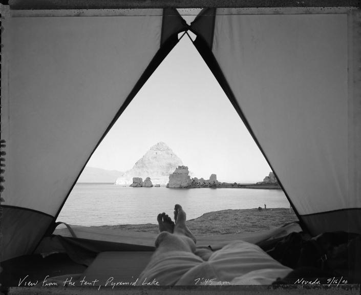 View from Tent at Pyramid Lake 9/16/00
