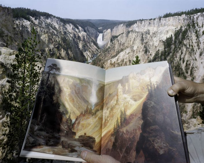 Viewing Thomas Moran at the source, Artist's Point, Yellowstone, 8/3/00