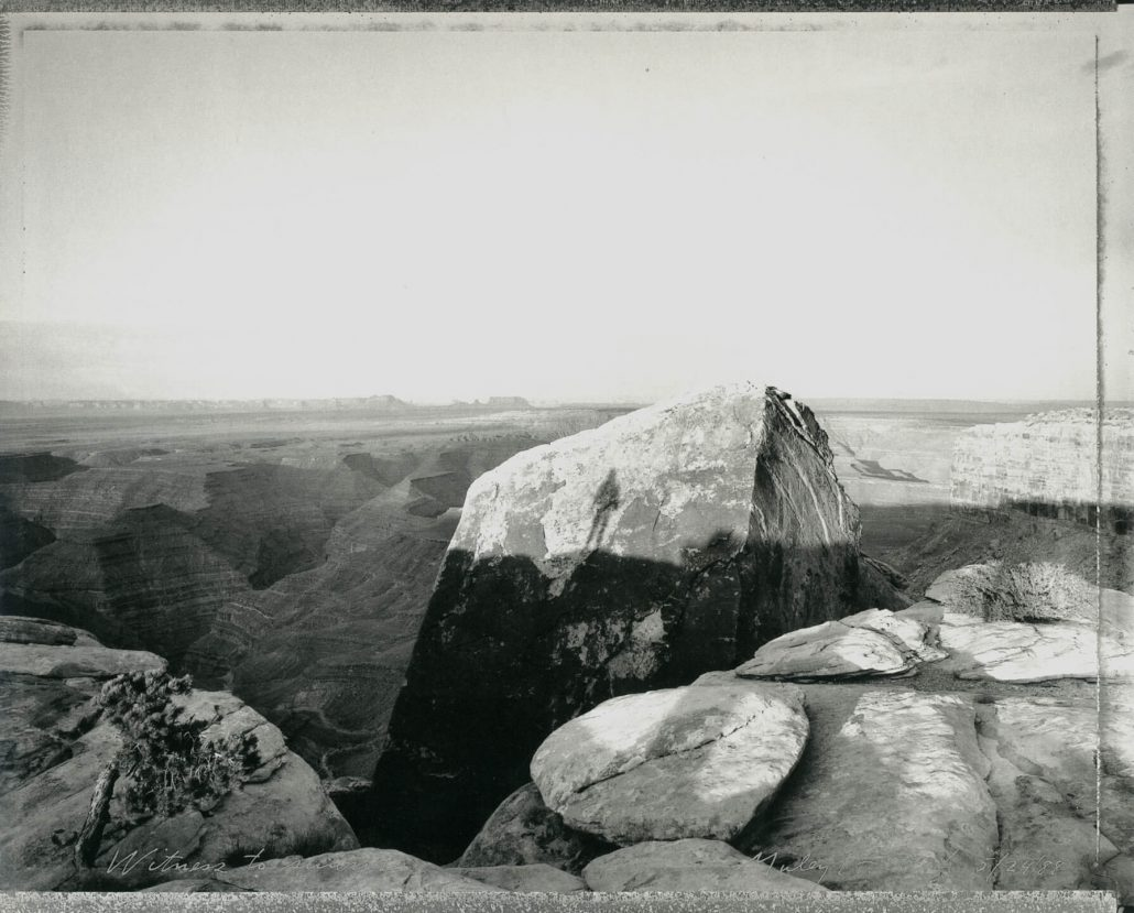 Mark Klett - Witness to Sunrise, Muley Point, Utah, 5/24/88, 1998, gelatin silver print, 16 by 20 inches