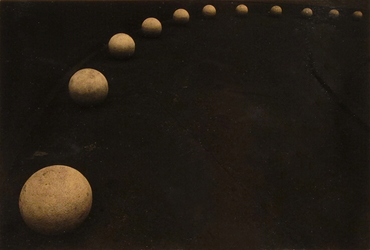 Masao Yamamoto - 78, from a Box of Ku, n.d., gelatin silver print with mixed media, 4 by 6.25 inches