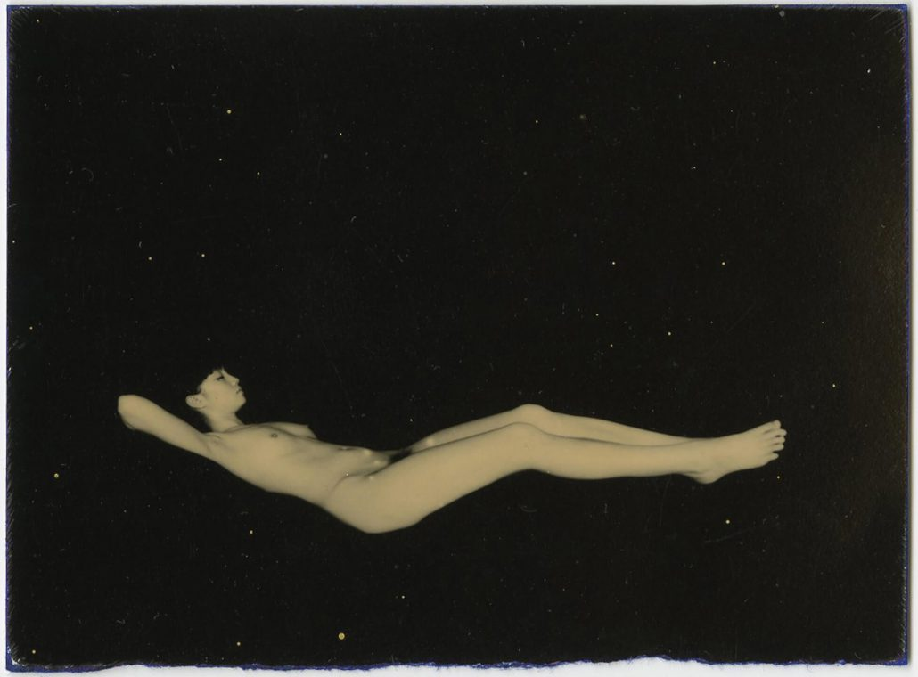Masao Yamamoto - 1119, from Nakazora, n.d., gelatin silver print with mixed media, 3 by 4 inches