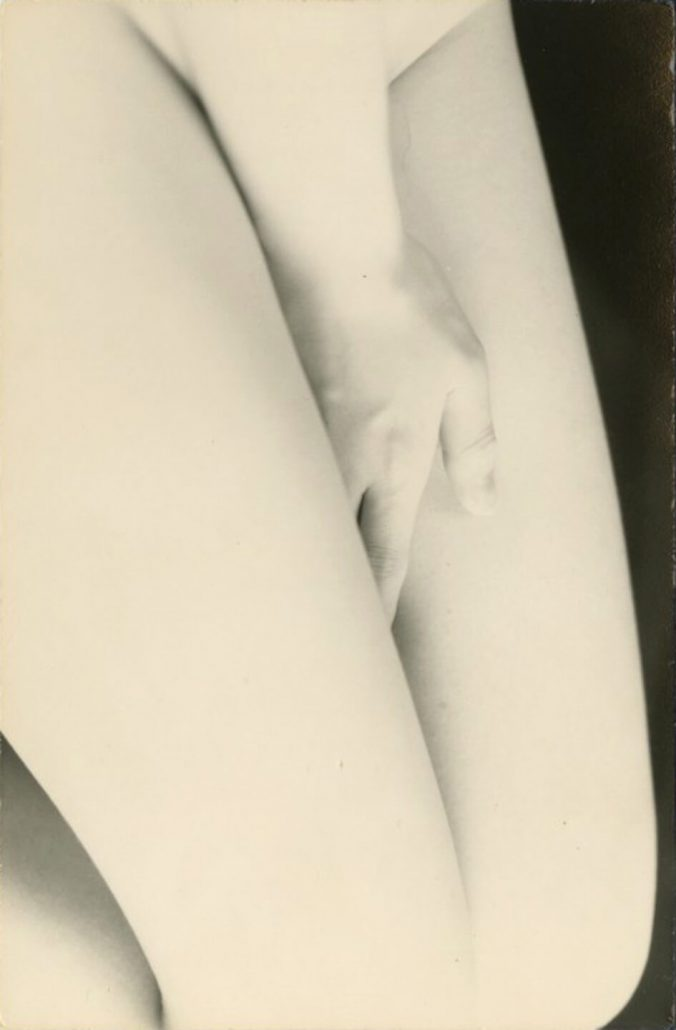 Masao Yamamoto - 1148, from Nakazora, n.d., gelatin silver print with mixed media, 5 by 3 inches