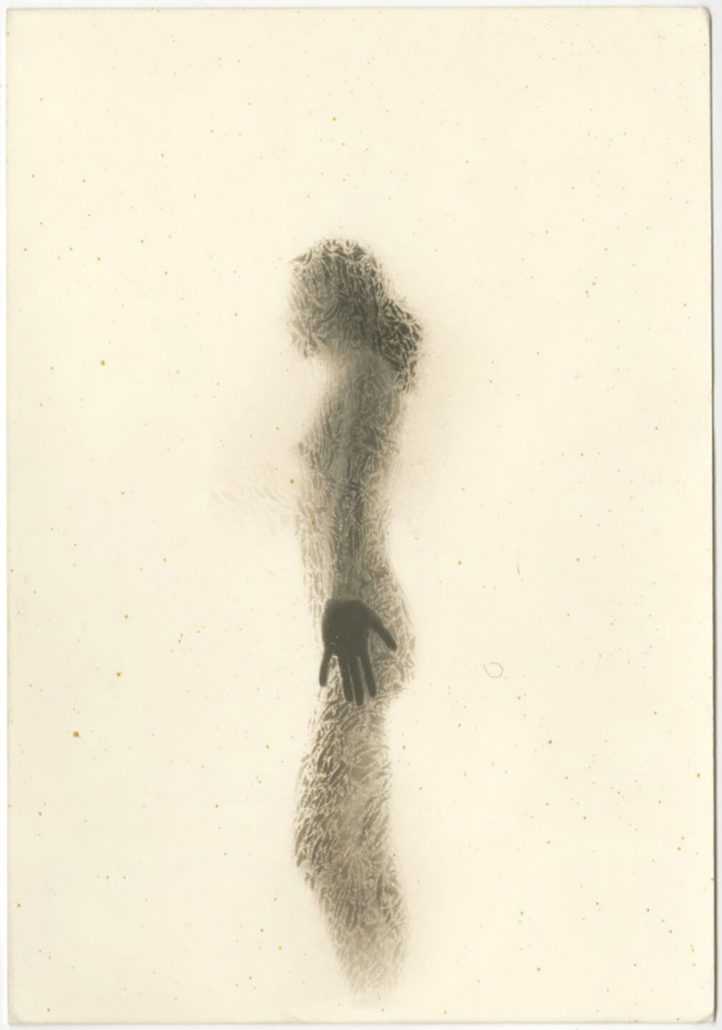 Masao Yamamoto - 1151, from Nakazora, n.d., gelatin silver print with mixed media, 4.75 by 7.75 inches
