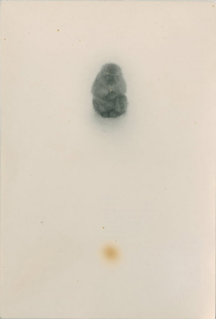 Masao Yamamoto - 1254, n.d., gelatin silver print with mixed media, 7 by 5 inches