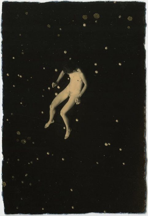 Masao Yamamoto - 1319, from Nakazora, n.d., gelatin silver print with mixed media, 3.75 by 2.5 inches