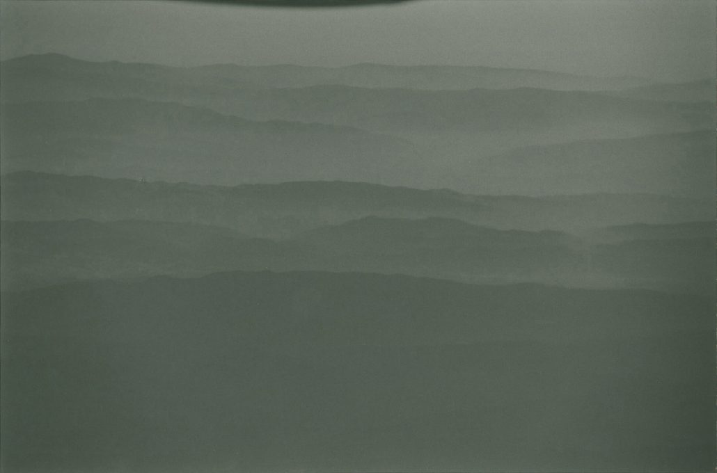 Masao Yamamoto - 1501, from Kawa = Flow, n.d., gelatin silver print with mixed media, 5.5 by 8 inches