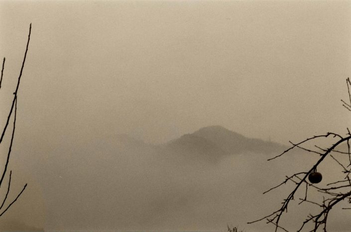 Masao Yamamoto - 1519, from Kawa = Flow, n.d., gelatin silver print with mixed media, 6 by 9 inches