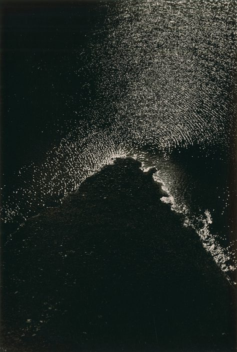 Masao Yamamoto - 1611, from Kawa = Flow, n.d., gelatin silver print with mixed media, 9 by 6 inches