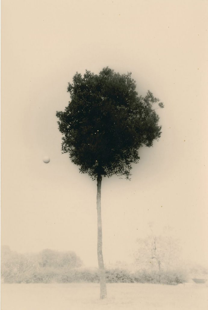 Masao Yamamoto - 1612, from Kawa = Flow, n.d., gelatin silver print with mixed media, 9 by 6 inches