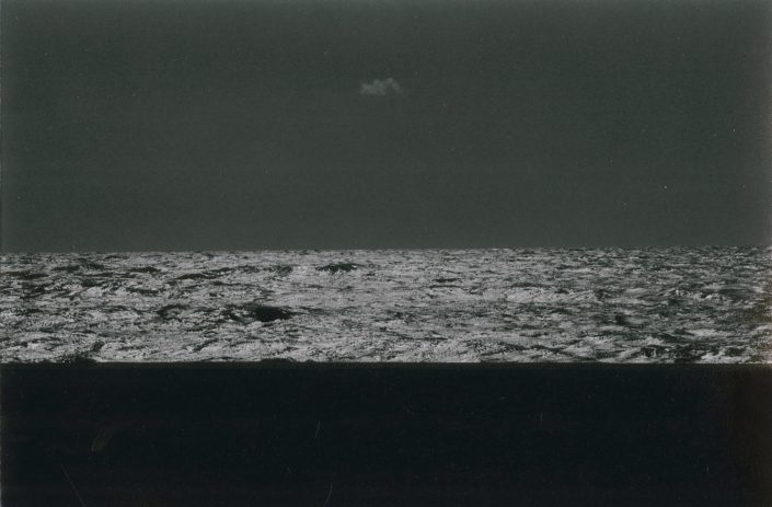 Masao Yamamoto - 506, from a Box of Ku, n.d., gelatin silver print with mixed media, 3.25 by 3 inches
