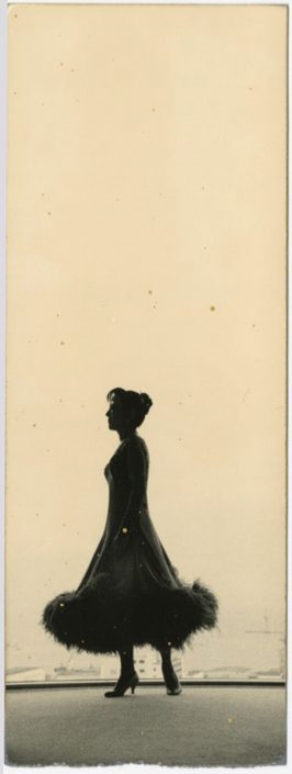 Masao Yamamoto - 795, from Nakazora, n.d., gelatin silver print with mixed media, 5.75 by 2 inches