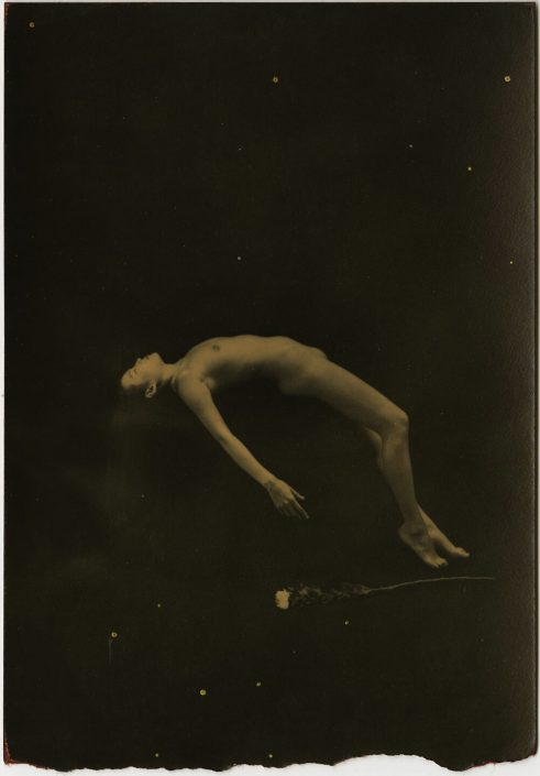 Masao Yamamoto - 814, n.d., gelatin silver print with mixed media, 4.75 by 3.25 inches