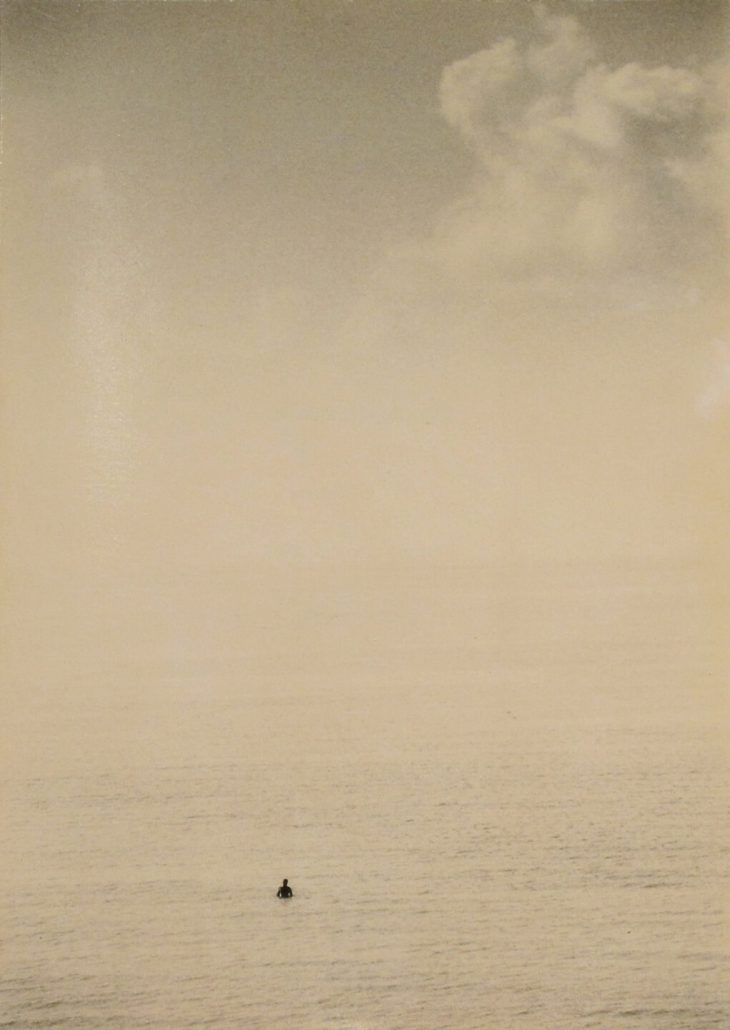 Masao Yamamoto - 841, from Nakazora, n.d., gelatin silver print with mixed media, 7.5 by 7.75 inches