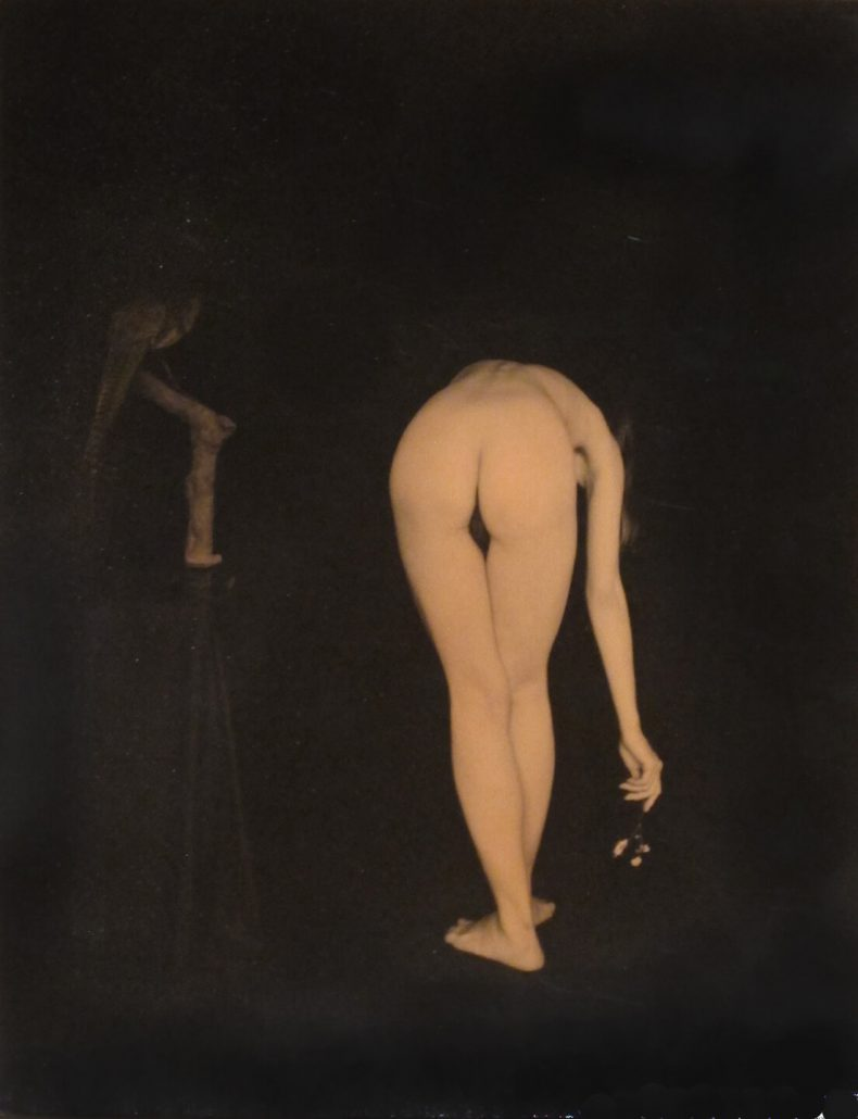 Masao Yamamoto - 917, from Nakazora, n.d., gelatin silver print with mixed media, 6 by 4.5 inches