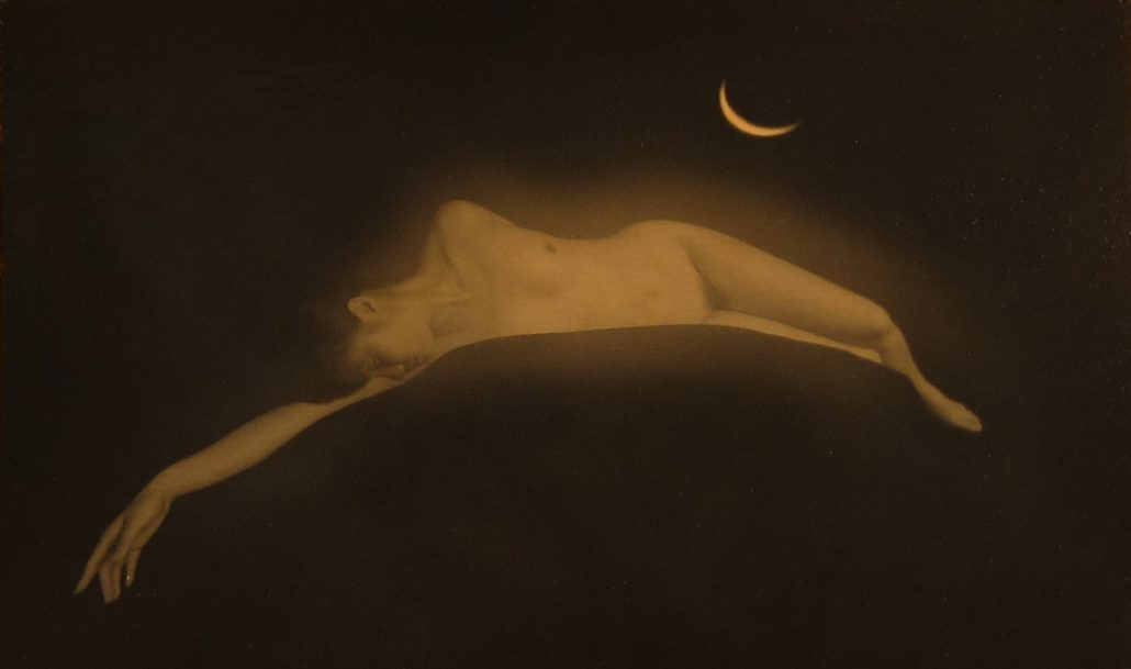 Masao Yamamoto - Untitled #974, n.d., gelatin silver print with mixed media, 3.5 by 5.5 inches