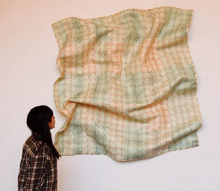 Máximo González - Simple Magma (Green Lots), 2015, collage: out-of-circulation currency , 6 by 6 feet approximately