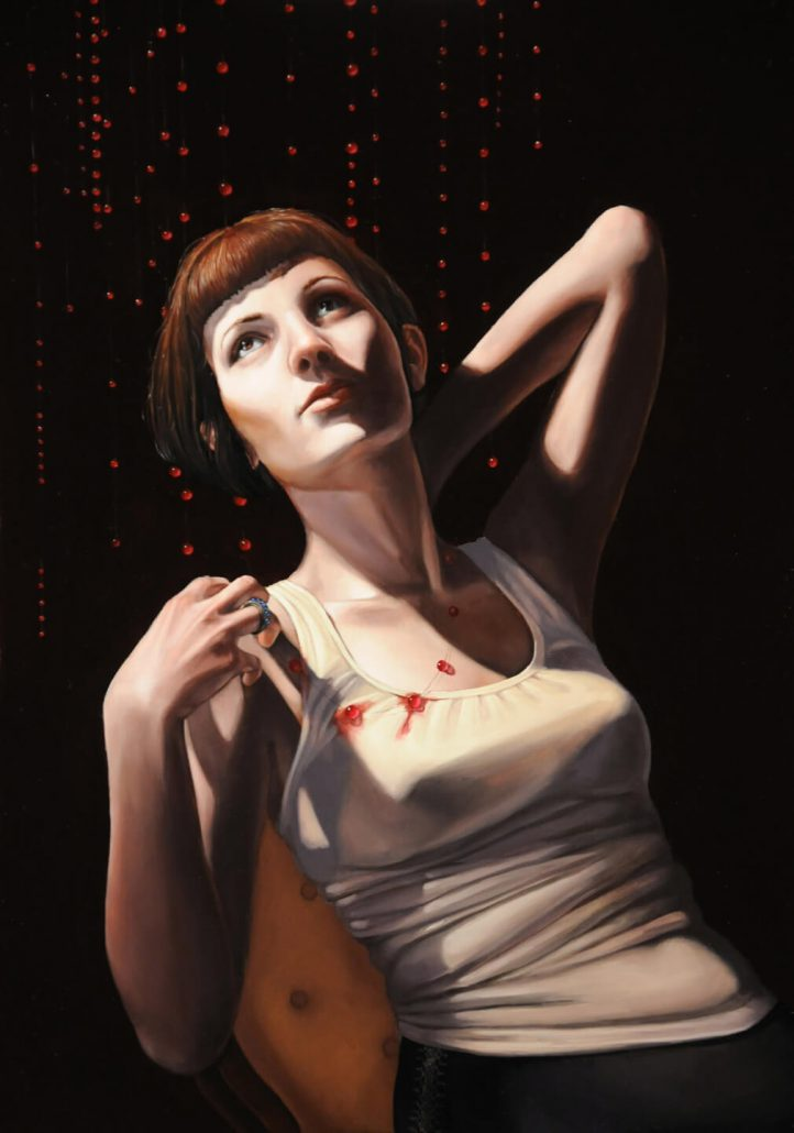 Rachel Bess - Ghost Blood, 2011, oil on panel, 11.5 by 8 inches